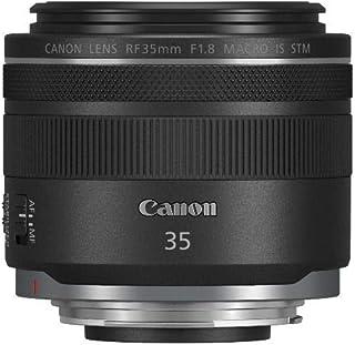 Canon - Objetivo RF 35mm f/18 Macro IS STM (Abertura f/18 Anillo de Control del Objetivo Abertura de 9 Hojas ampliación de 05X Motor STM silencioso IS híbrido) Negro