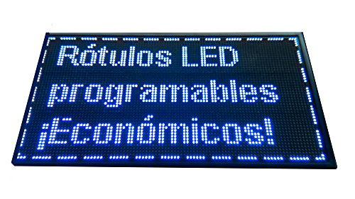 Cartel LED PROGRAMABLE (96x48 cm, Azul) Letrero LED PROGRAMABLE Pantalla LED PROGRAMABLE ROTULO LED PROGRAMABLE Cartel ELECTRÓNICO ANUNCIA TU Negocio/ PROGRAMMABLE LED Panel BANDEROLA LED