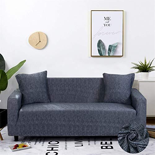 Cubiertas de sofá de estiramiento Protector de muebles Elásticos Poliéster Couch Couch L Cubierta de sillón para sala de estar 1/2/3/4 plazas (Color: Color 11, Especificación: 3 plazas 190 230 cm) lei