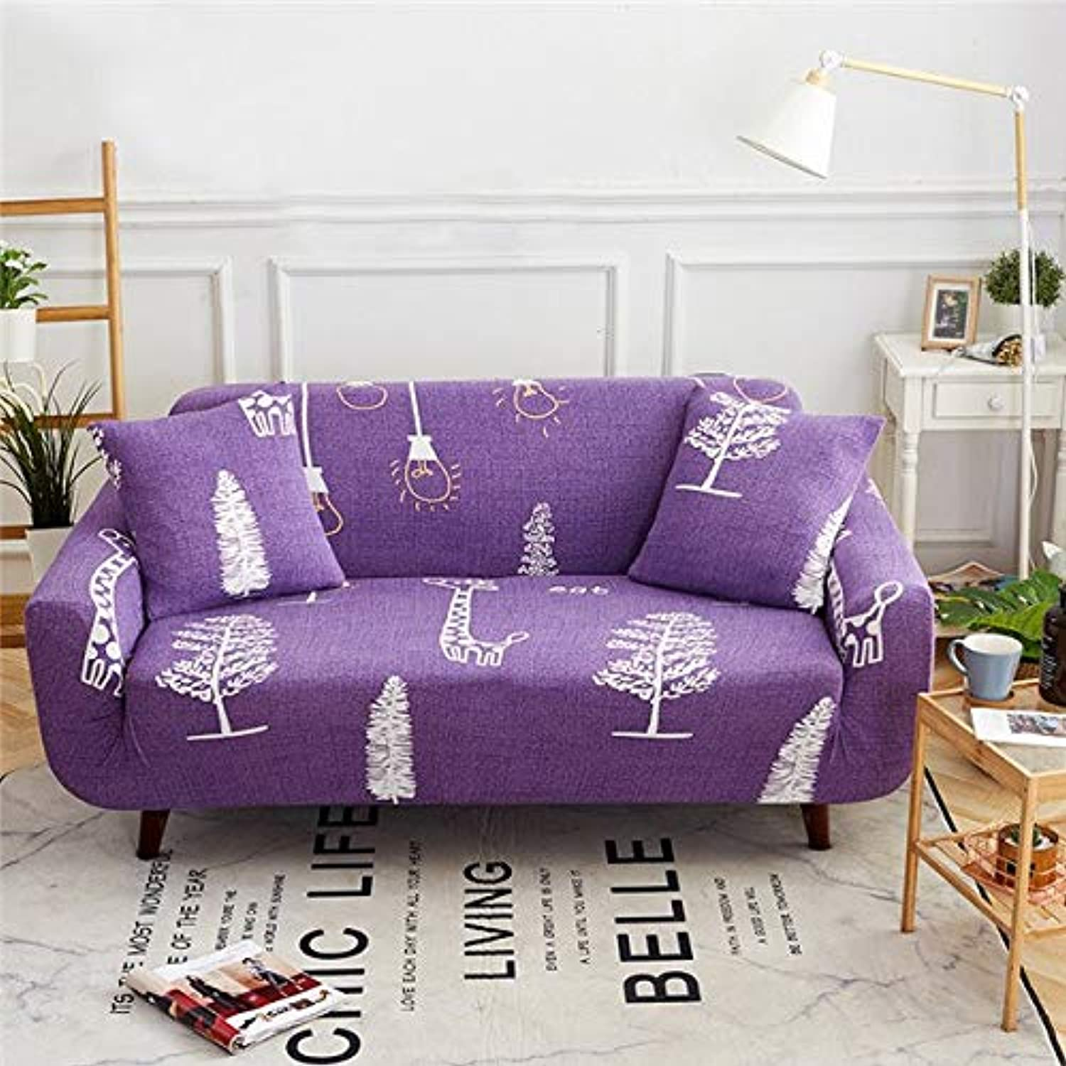 Spandex Sofa Bed Cover Stretch No armrests Tight Wrap Sofa Cover for Living Room Soft Slipcovers Elastic Couch Cover cubre Sofa   color 22, 160-190cm