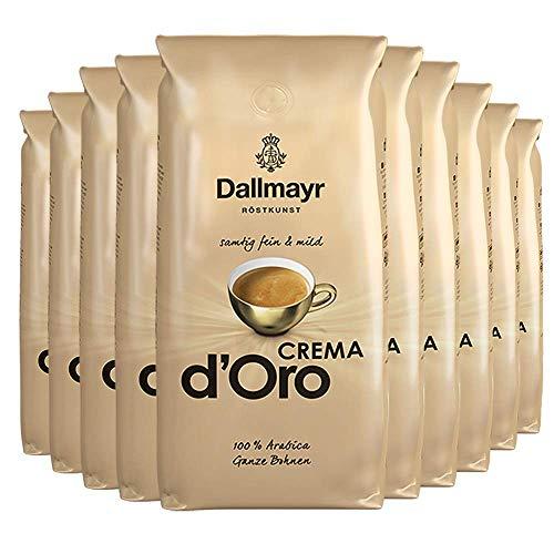 10x DALLMAYR Crema d' Oro (á ganze Bohnen / 1000g)