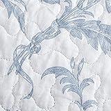 Laura Ashley Home - Amberley Collection – Luxuriöses, besonders weiches Steppdecken-Set, bequem & stilvoll, ideal für alle Jahreszeiten, Queensize, Spa Blue