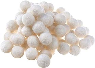 50 peças de bolas de feltro de lã 20 mm com contas de lã, pompons fofos, decoração de esferas para artesanato DIY, decoraç...