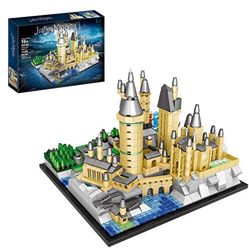 FADY Schloss Bauset, Modular Haus Kompatibel mit Lego Harry Potter Schloss Hogwarts - 1348 Teile