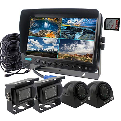 CAMSLEAD Car Backup Camera System 9 inch Monitor Built-in DVR recorder...
