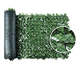 "top 10 faux ivy privacy fences SEKKVY 39 ″ x 118 ""artificial hedge artificial ivy fence screen mesh leaf panel…"
