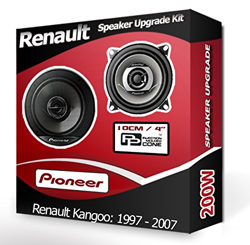 Pioneer Kit de haut-parleurs pour tableau de bord avant pour Renault Kangoo, 10 cm, 200 W