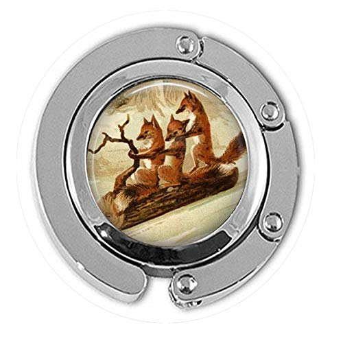 bab Fuchs Fuchs Schlittenohrringe mit Schlitten auf einem Holzscheite, Fuchs-Schmuck, Geschenk, niedliche Füchse Ohrringe, Aufhänger
