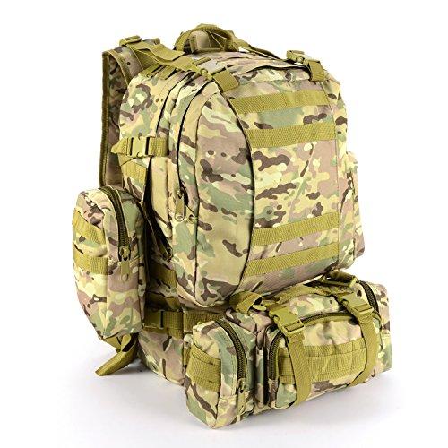 SurePromise One Stop Solution for Sourcing 50L Sac a Dos Bandoulière Tactique Militaire Outdoor Camping Randonnée Etanche