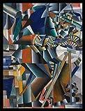 1art1 Kazimir Malévich Póster Impresión Artística con Marco (Madera DM) Negro - El Afilador de Cuchillos Principio de la Animación, 1913 (80 x 60cm)