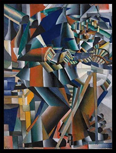 1art1 Kazimir Malévich Póster Impresión Artística con Marco (Madera DM) Negro -...