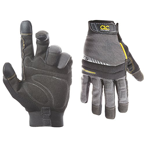CLC Custom Leathercraft 125L Handyman Flex Grip Work Gloves, Shrink Resistant, Improved Dexterity, Tough, Stretchable, Excellent Grip,Original,Large
