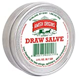 Amish Origins Draw Salve2 oz, Authentic Amish Formula,Natural Powerful Salve, Provides Relief from Topical Pain and Irritations, Splinters, Sores, Bee Stings,Foreign Objects Embedded in The Skin.