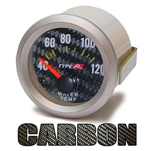 Carparts-Online 11357 Wassertemperatur Anzeige Zusatz Instrument 52mm Carbon