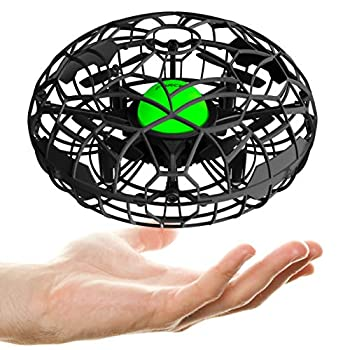 Force1 Scoot XL Hand Operated Drone for Kids or Adults - Hand Controlled Motion Sensor Mini Drone Easy Indoor Small UFO Toy Flying Ball Drone Toy for Boys and Girls  Black