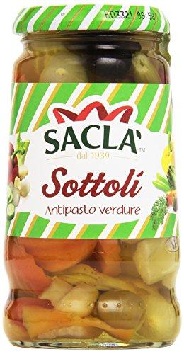 Saclà - Sottolí, Antipasto Verdure in Olio di Semi di Girasole - 280 g
