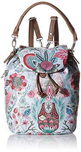 Oilily Damen Picnic Backpack Mvf Rucksack, Grau (lightgrey), 15x32x24 cm