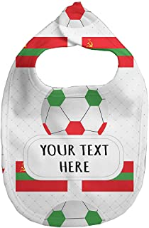 Baby Fleece Bib Custom Trans Republic Soccer Pattern Unisex Children, One Size