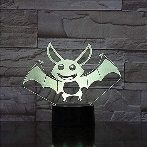 XLLQYY 3D luces de noche lámpara de mesa ilusión visual 3D LED lámpara 3D ilusión lámpara de mesa 7 colores regalo de cumpleaños lámpara de escritorio led luz de noche con color luz de noche 7 colores