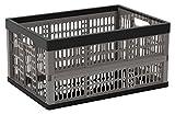 CEP 8802 Caisse pliante ultra-résistante/légère 45,7 x 34,5 x 23,5 cm Noir/Gris