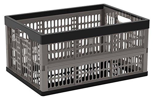 Kis Folding Crate - Cassetta Pieghevole - 47,5X34,5X23H Grigio