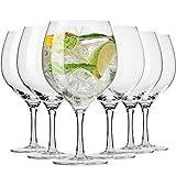 Krosno Copas para Cóctel Gin Balón Agua | Conjunto 6 Piezas | 700 ml | Harmony Collection Casa, Restaurante y en Las Fiestas | Apta para Lavavajillas y Microondas