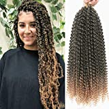 7Packs/Lot Ombre Passion Twist Crochet Hair Braids 18Inch Water Wave Crochet Hair Passion Twist Crochet Synthetic Braiding Extensions (T27#)