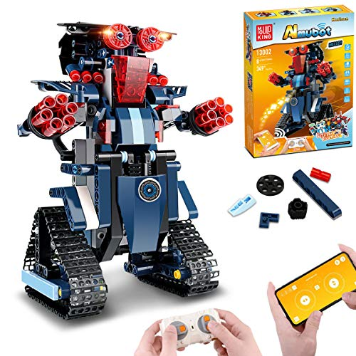 Remote Control Robot,HBUDS RC Building Kit Building Block Robot Educational RC Robot Bricks STEM...