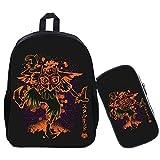 Estuche de 2 unidades/set The Legend of Zelda Fluorescencia Mochila para adolescentes niños niñas bolsas escolares Cool Link Majora's Mask Mochila de viaje