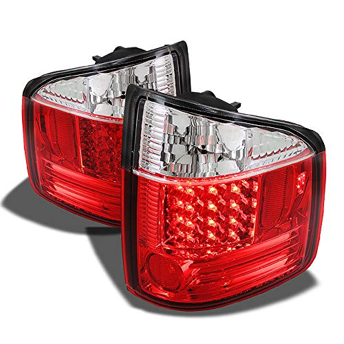 ACANII - For 1994-2004 Chevy S10 GMC Sonoma Red Clear Lumileds LED Tail Lights Brake Lamps Driver & Passenger Side