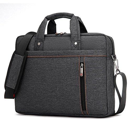 BURNUR Laptop Bag and Case Shoulder Messenger Bag, for Laptops, MacBooks Fits up to 15.6 inch - Black