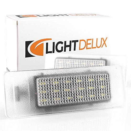 LIGHTDELUX Repuesto para iluminación de matrícula LED, sin mensajes de error con certificado E V-031815.