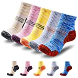 PUQIK 5 Pack Women's Hiking Socks,Multi Performance Cushion Crew Socks for Cycling Trekking Outdoor