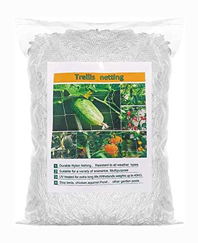 JJZJ HeavyDuty Polyester Plant Trellis Netting 5 Ft x 15 Ft