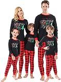 Matching Family Christmas Pajamas Women Men Sleepwear Boys Girls Tree Clothes Red Plaid Pjs Kids Size 2