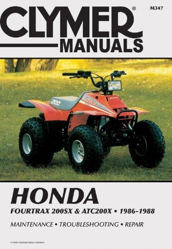 Honda 4trax 200SX/ATC200X 86-88 (Clymer All-Terrain Vehicles)