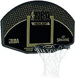 Spalding NBA 80-688Cn Tablero, Unisex Adulto, Negro/Dorado, 44