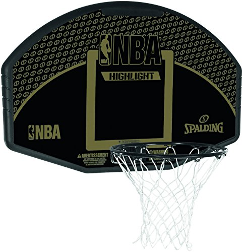 Spalding Unisex-Adult Korbanlage Backboard Highlight Basketball, black,gold, One size
