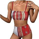 Traje de Baño Bikini Mujer Push-Up Acolchado Traje de Baño Dos Piezas Corta Corto Crop de Bikini Sexy Mujer