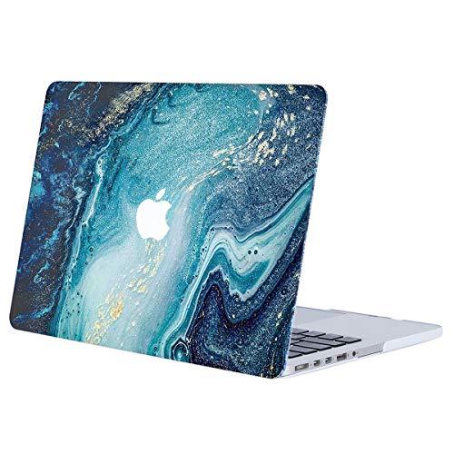 MOSISO Custodia Rigida Compatibile con MacBook PRO Retina 15 Pollici A1398(Versione metà 2015/2014/2013/Metà 2012) con Display Retina Plastic Case Cover Rigida Copertina,Marmo Creativo Dell'onda