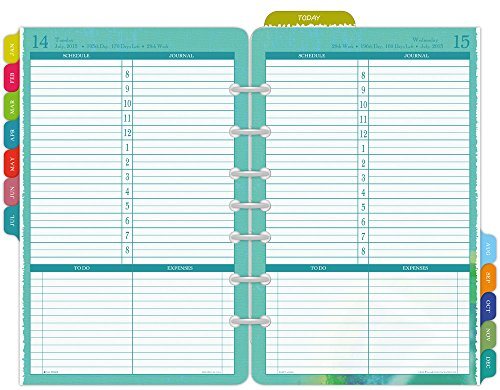 Day-Timer Flavia Desk-Size Daily Planner Refill 2015, 5.5 x 8.5 Inches Page Size (09451)