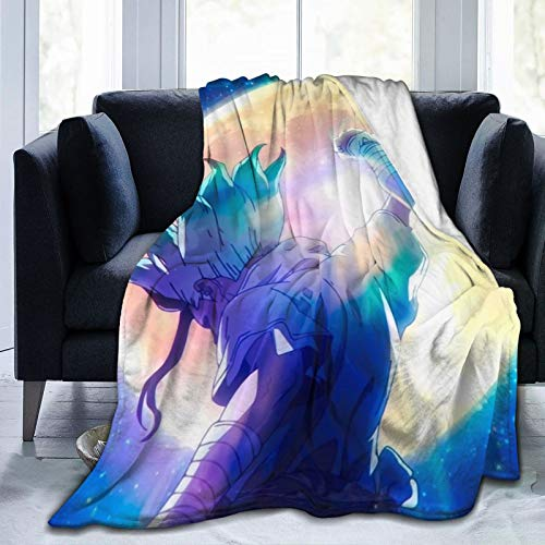 Dr Stone Moon Ultra-Soft Micro Fleece Blanket Warm Flannel Throw Blanket Plush Couch Bed for Home Decor 60'X 50'