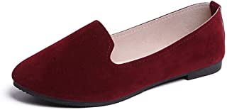 Donsi ClearanceSale Flats Shoes for Women Women Girls Solid Big Size Slip On Flat Shallow Comfort Casual Single Shoes