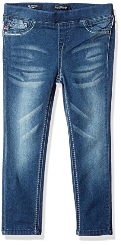 Vigoss Girls' Girls' 5 Pocket Classic Pull on Skinny Jean, True Blue, 12