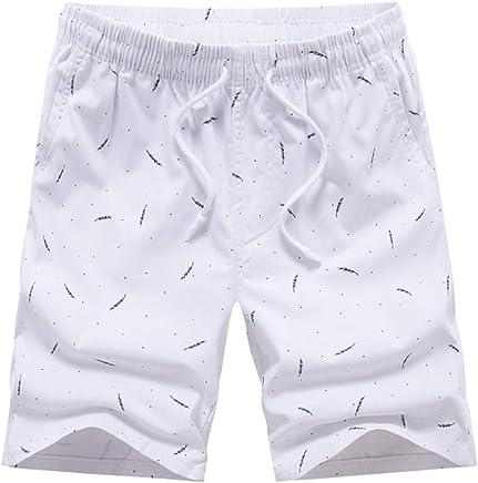 d5c0cd9608f2e3 Caopixx Men's Shorts Casual Classic Fit Drawstring Summer Beach Shorts with  Elastic Waist and Pockets
