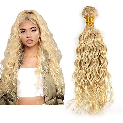 Mila 1 Boule Tissage 100g Naturel Humain Cheveux Boucles Blond 613# Brésilien 8A Meches 100% Remy Natural Wave Hair Bundle 20\