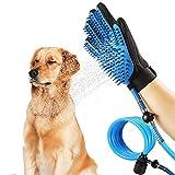 Abhsant Pet Bathing Tool Dog Cat Shower Sprayer Adjustable Bath Glove Massage Clean Remove Hair Shower Attachment 3 in 1 Pet Shower Kit