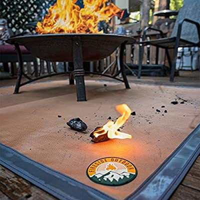 """Ember Mat   72"""" x 60""""   Fire Pit Mat   Grill Mat   Protect Your Deck, Patio, Lawn or Campsite from Popping Embers"""