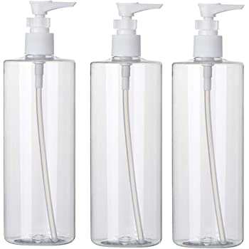 Bottiglia Ricaricabile Bottiglia con Pompa Marrone miuse per riempire Shampoo Dispenser Quadrato da 650 ml Gel Doccia e disinfettante per Le Mani Confezione da 2