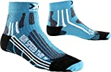 X-Socks Mujer xrun Speed Two Lady Unidad calcetín, otoño/Invierno, Mujer, Color Turquoise/Black, tamaño 35/36